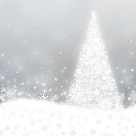 christmas cards: Greeting card with Christmas tree