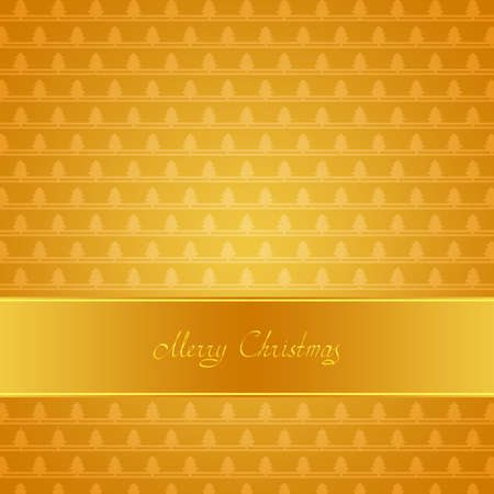 Greeting card with Christmas trees and ribbon photo