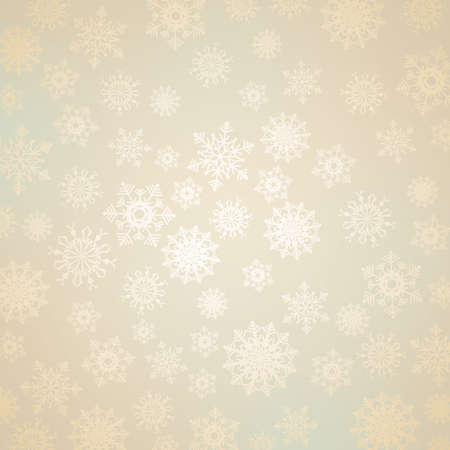Abstract Christmas background with snowflakes Stock Photo