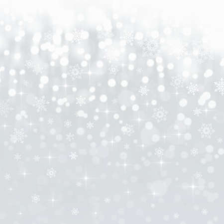 Light abstract Christmas background with snowflakes Stock Photo