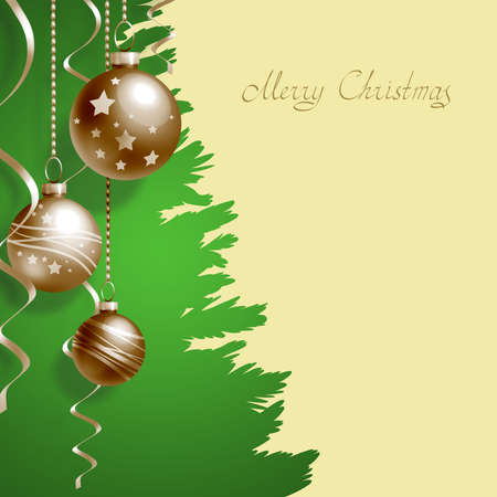 place to shine: Greeting Card with Christmas balls and place for text