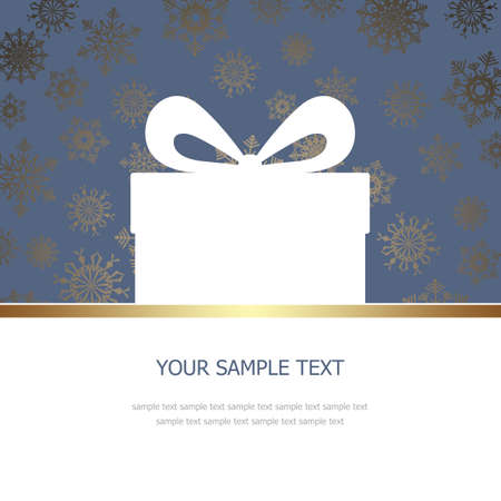 place for the text: Greeting Card with gift box and place for text Stock Photo