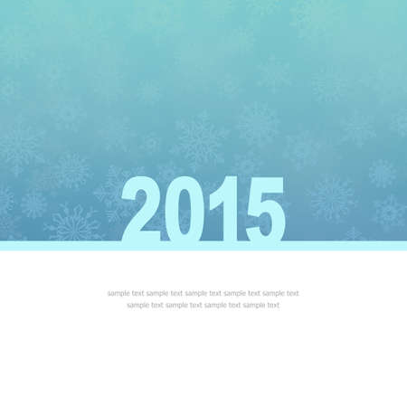 New Year Greeting Card with snowflakes and place for text