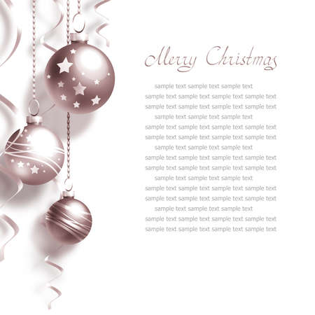 Background with Christmas balls and place for text