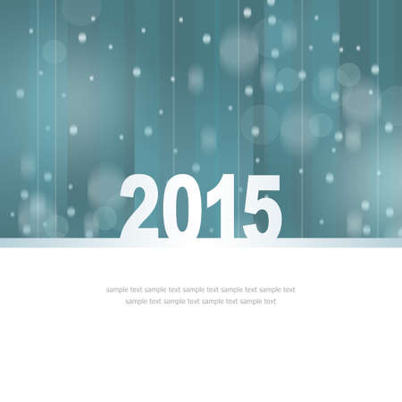 New Year Greeting Card with place for text