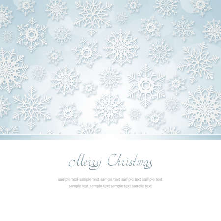 Christmas Greeting Card with snowflakes and place for text