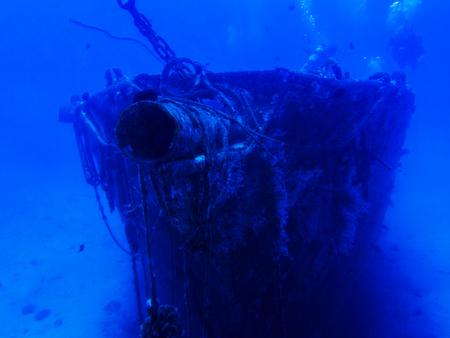 Sunken Brig Sits at Bottom of Ocean