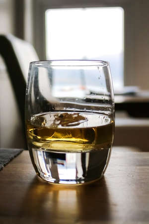 Close Up Glass of Whisky or Scotch