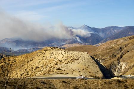 Smoke and Flames Burn California Hillsides