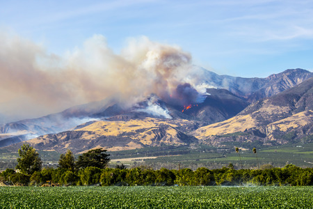 Helicopters Flames and Smoke in Ventura County California