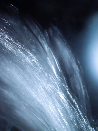 Close Up Falling Water Cool Blue Tones Reklamní fotografie