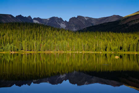 Reflection on Lake Stock Photo