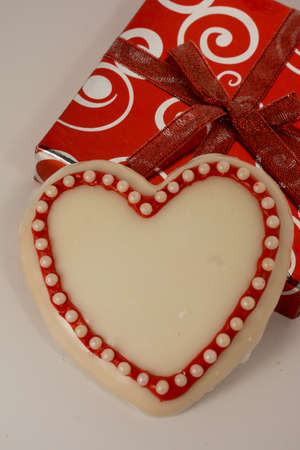 Heart cookie on Shiny box