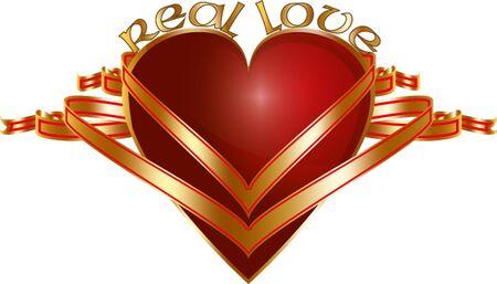 hape: amore vero cuore con le bandiere d'oro