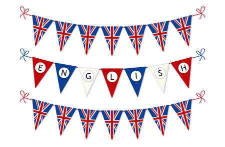 pronounce: Cute bunting flags for English Language Day