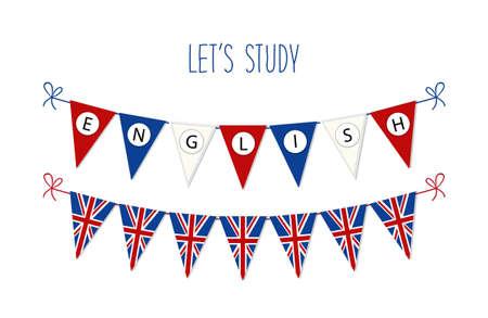 Bandiere per la lingua inglese. Archivio Fotografico - 75674427