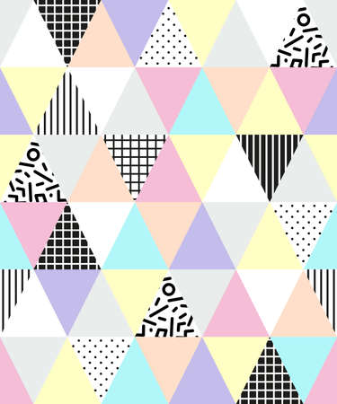 polkadots: Cute 80s style seamless geometric pattern with triangular shape for your decoration