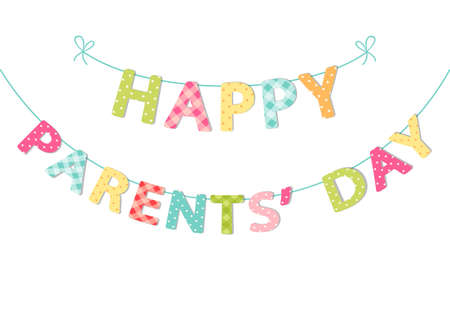 Cute Parents Day banner as bright festive letters Illustration