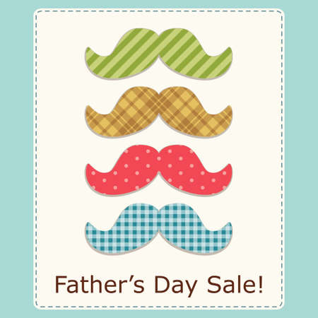 Festive retro greeting card for Fathers day