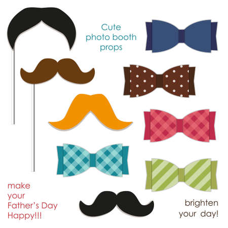 Cute photo booth props to make your Fathers Day really happy