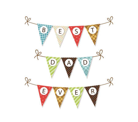 Cute festive Fathers Day banner