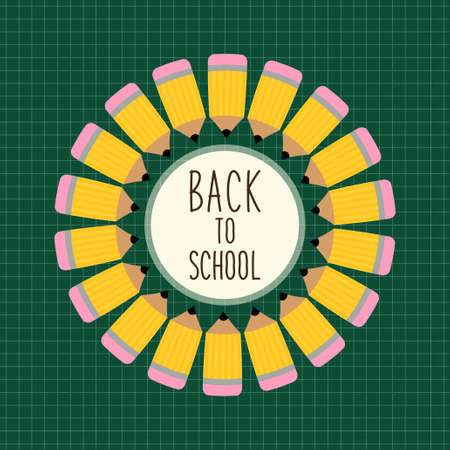 Cute Back to School theme frame Illustration