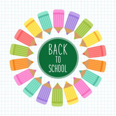 Cute Back to School theme frame Illustration