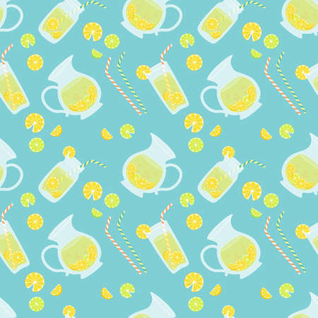 Cute vintage seamless pattern Fresh Lemonade for your decoration