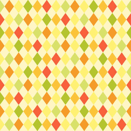 Retro primitive seamless rhombus background in autumn colors Illustration