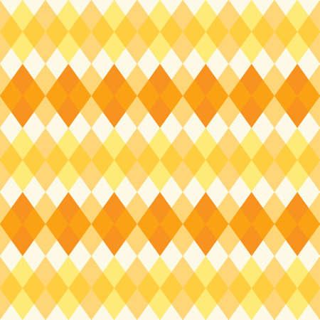 Retro primitive seamless rhombus background in autumn colors Illustration