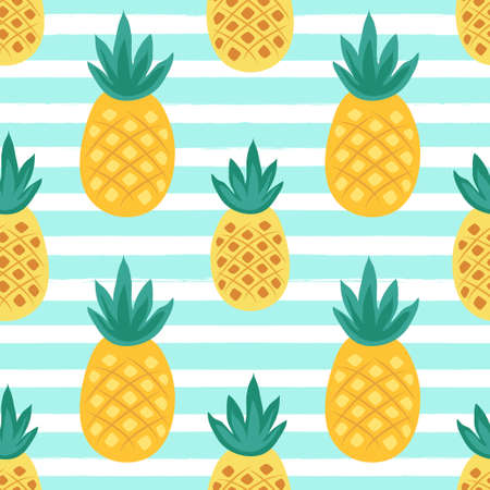 Cute seamless pattern with tropical palm leaves for your decoration
