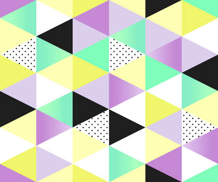 polkadots: Cute 80s style seamless geometric pattern with triangles