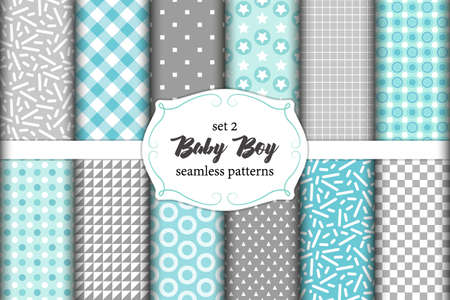 Cute Set Of Scandinavian Baby Boy Seamless Patterns With Fabric Impressive Boy Patterns