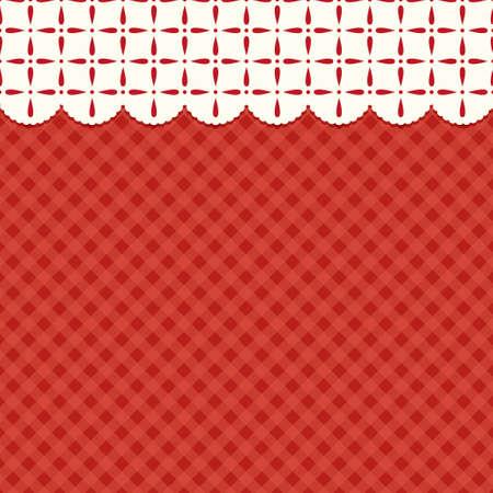 축제 장식 복고풍 크리스마스 배경 장식을위한 전통적인 색상 일러스트