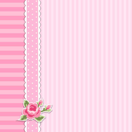 Cute shabby chic floral background for your decoration Illustration