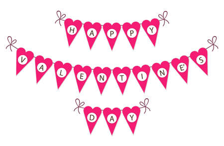 Cute vintage bunting flags ideal for Valentines.
