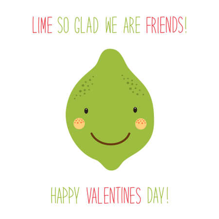 Lime cute cartoon design for valentines day.