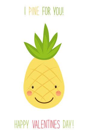 Fruit design for Valentine card design. Illustration