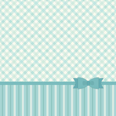 Cute primitive retro pattern with ribbon and bow in shabby chic style for your decoration Ilustracja
