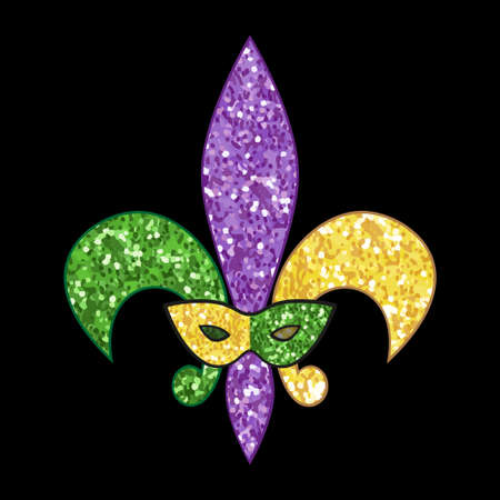 Beautiful fleur de lis with shimmer texture for your decoration