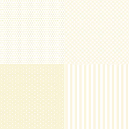 Vintage set of patterns in shabby chic style