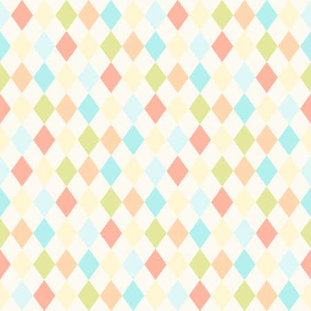 Vintage seamless background in shabby chic style as rhombus pattern