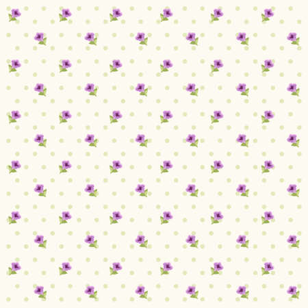 Vintage floral background with lavender in provence style on dots background Иллюстрация
