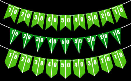 American football field bunting flags party decoration