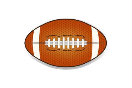 Illustartion della sfera di football americano isolata su bianco