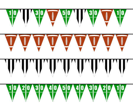 American football bunting flags party decoration Zdjęcie Seryjne - 102555540