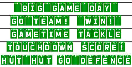 American football bunting flags game day decoration