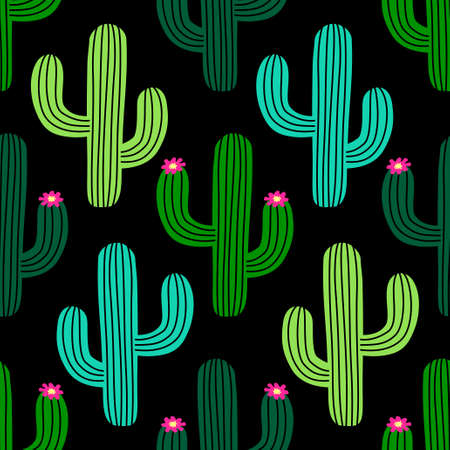 Cute hand drawn cactus seamless pattern for your decoration