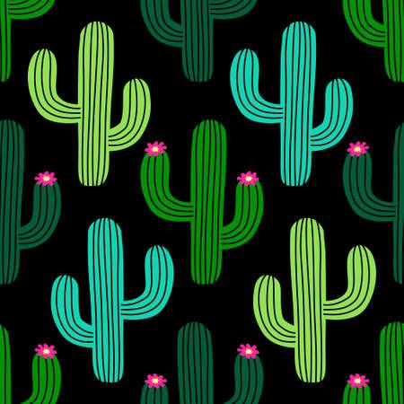 Niedliches handgezeichnetes nahtloses Muster des Kaktus für Ihre Dekoration