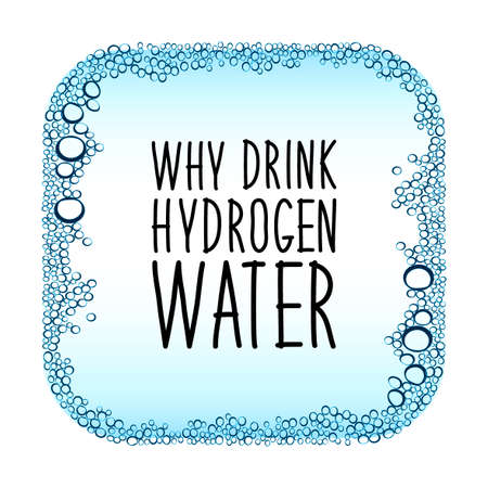 Hydrogen water drinking new technology concept frame